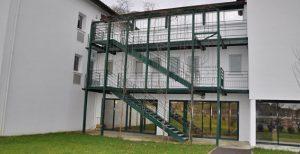 Escalier avec passerelle de secour MFD-GOUDARD