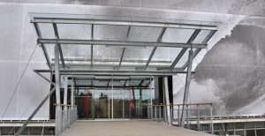 Conception et réalisation Auvant acier-verre MFD-GOUDARD