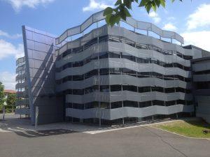 Construction métallique brise soleil Ville d'Anglet MFD OUDARD