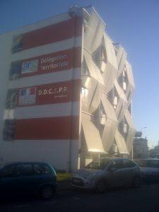 DDAS de MONT de Marsan Habillage de façade en tissus maille inox